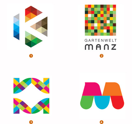 Logo trend mosaic