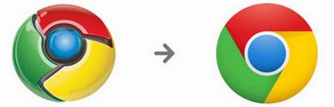 logo baru google chrome