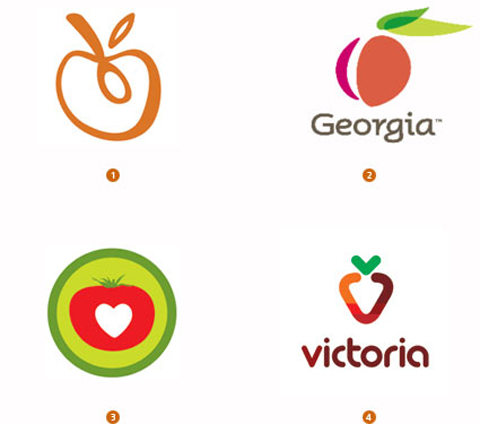 trend logo fruit