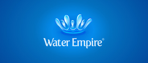 logo water empire blue