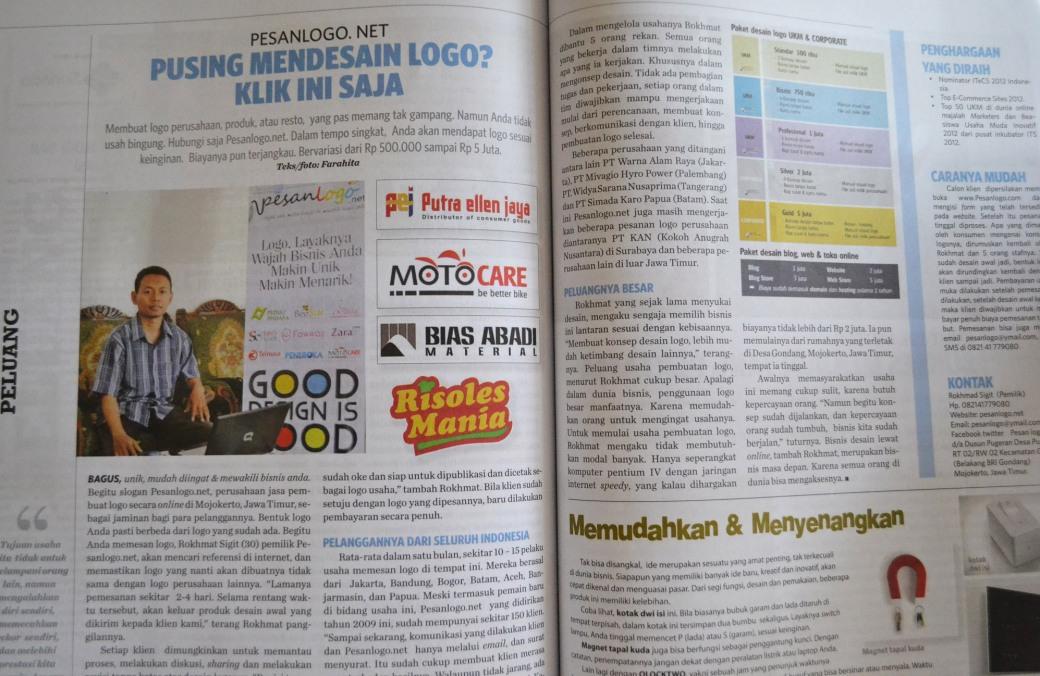 pesanlogo net di majalah idebisnis