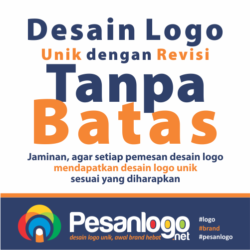 desain logo unik dengan revisi tanpa batas