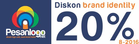 diskon desain brand identity